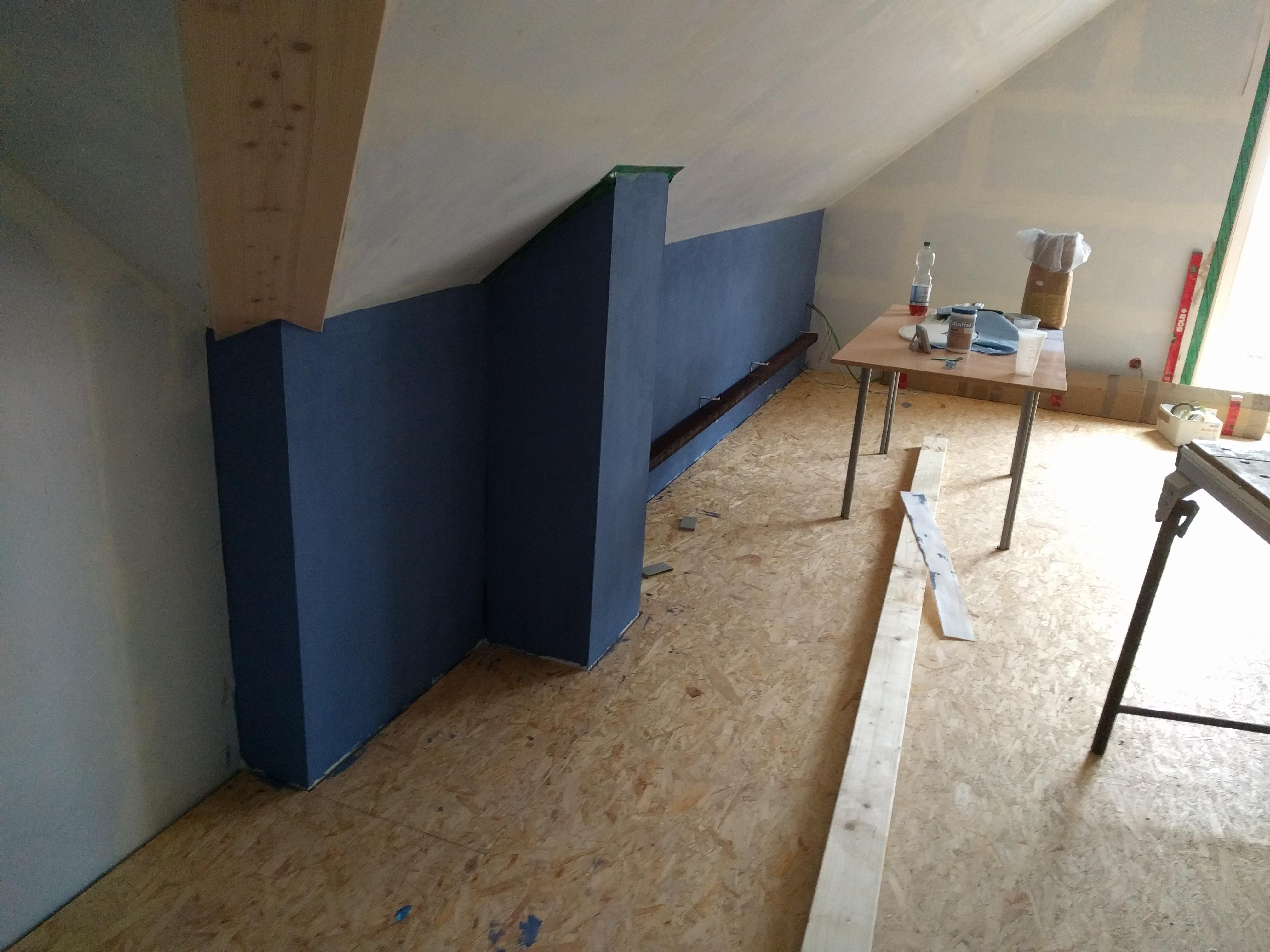 Baublog herz bau unseres holzhauses great canada von for Grune rigipsplatten streichen