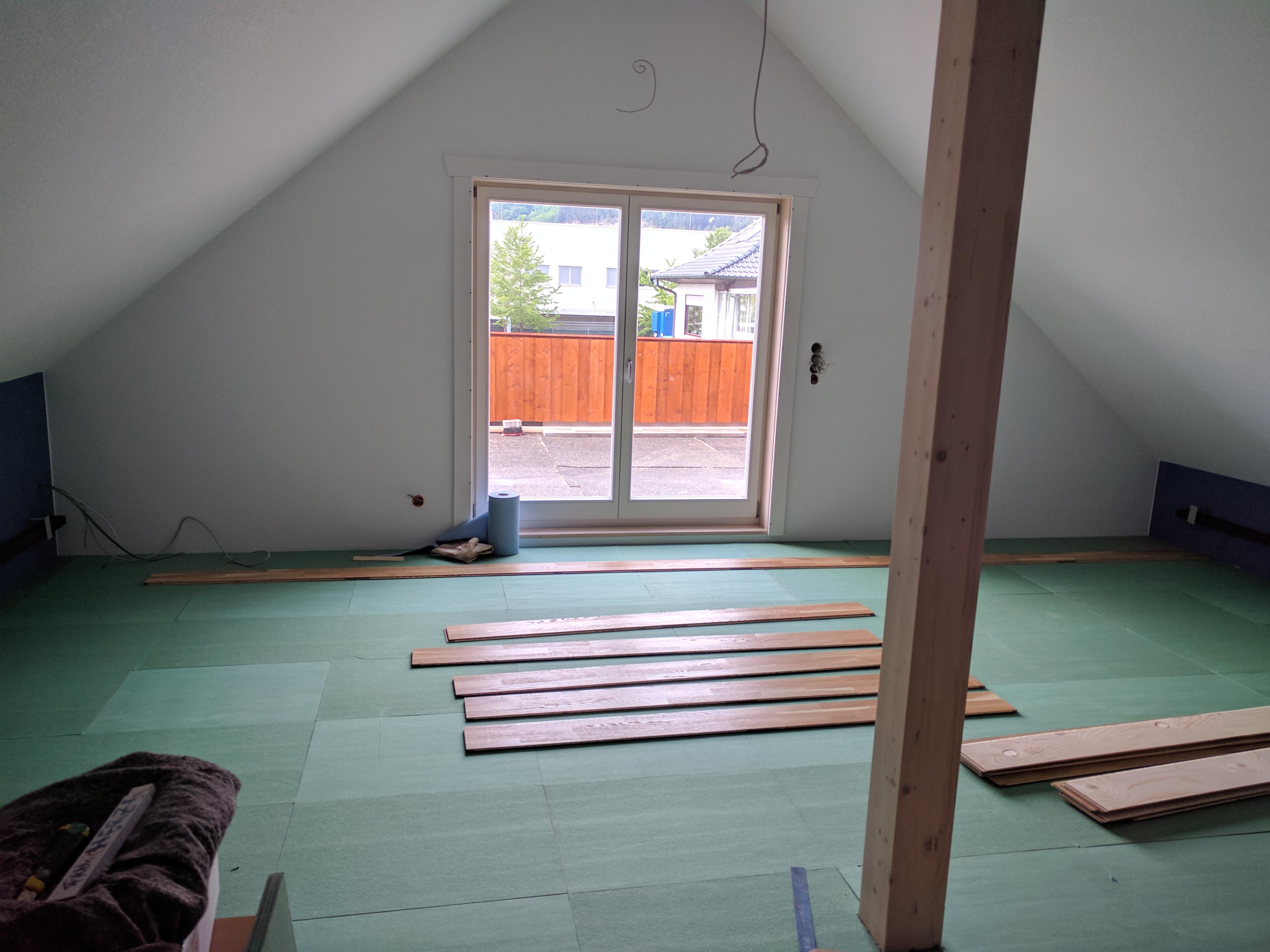Fußboden Im Dachgeschoss ~ Umnutzung dachgeschoss kernesche boden luke dein schreiner